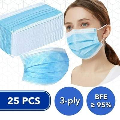 Image of Disposable BFE 95 Face Masks (Box of 25)