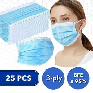 Disposable BFE 95 Face Masks (Box of 25)