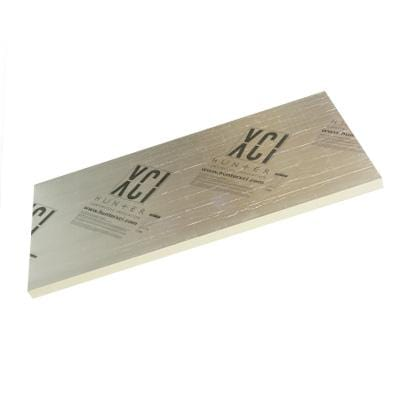 Hunter Xci Foil(Class A) Polyiso Rigid Insulation Panel 4in x 4ft x 8ft (12 Sheets) rigid board