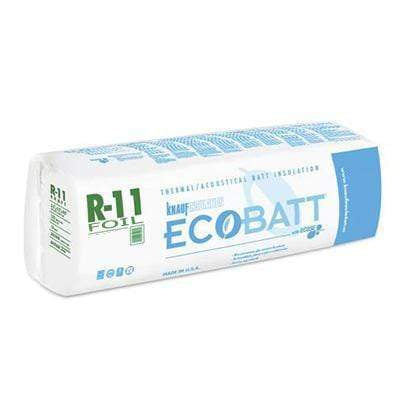 Knauf Ecobatt R-11 Foil Faced Fiberglass Insulation Batts - 3.5 in x 16 in x 96 in (1 Bag) Batts