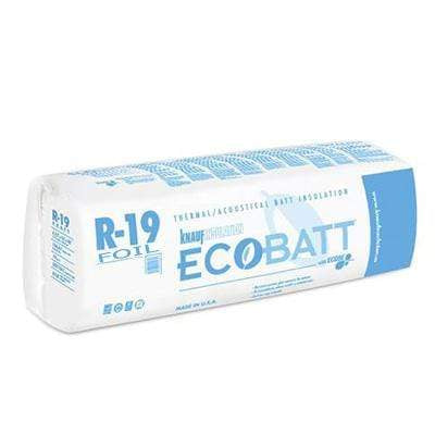 Knauf Ecobatt R-19 Foil Faced Fiberglass Insulation Batts - All Sizes Batts