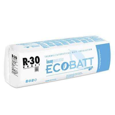 Ecobatt R-30 Kraft Faced Fiberglass Insulation Batts - All Sizes Batts