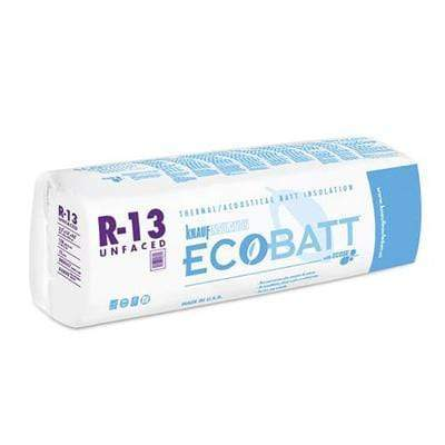 Knauf Ecobatt R-13 Unfaced Fiberglass Insulation Batts - All Sizes Batts