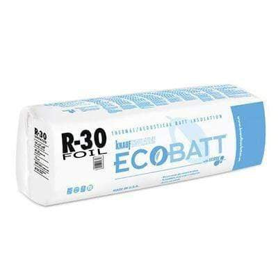 Knauf Ecobatt R-30 Foil Faced Fiberglass Insulation Batts - 10 in x 24 in x 48 in (1 Bag) Batts