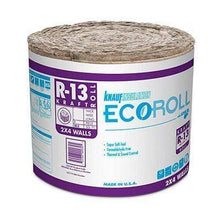 Load image into Gallery viewer, Knauf Ecoroll R-13 Kraft Faced Fiberglass Insulation Roll - All sizes Roll