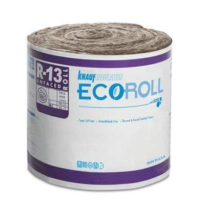 Knauf Ecoroll R-13 Unfaced Fiberglass Insulation Roll 3.5 in x 15 in x 62.7 ft (6 Rolls) Roll
