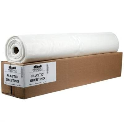 12ft x 100ft x 6mm  Poly Sheeting (36 Rolls) Weatherproofing