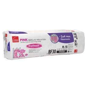 Owens Corning EcoTouch R15 Paperfaced 3 1/2 in x 16 in x 96 in Batts in Bag Insulation