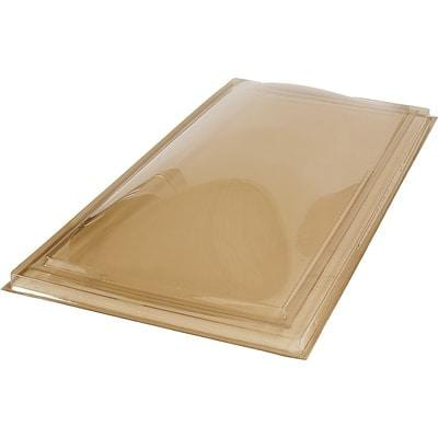 Curb Mount Fixed Impact Polycarbonate Skylight Bronze/Clear