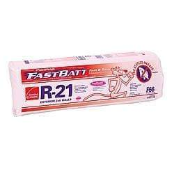 Owens Corning EcoTouch R21 Paperfaced FastBatts (All Sizes) 5.5 in x 15 in x 93 in (5 Bags) FastBatt
