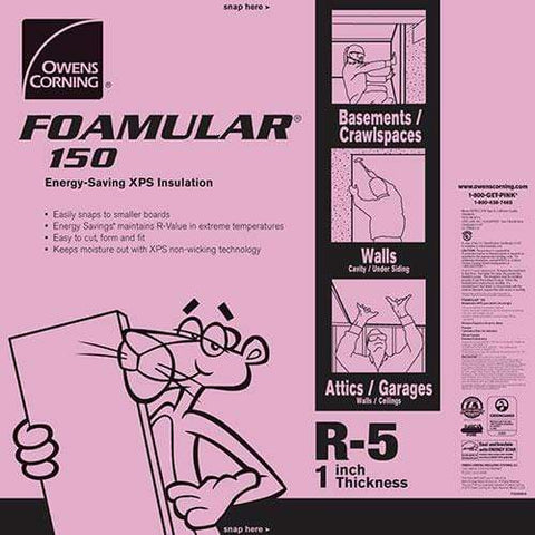 Image of Owens Corning FOAMULAR 150 1 in. x 4 ft. x 8 ft