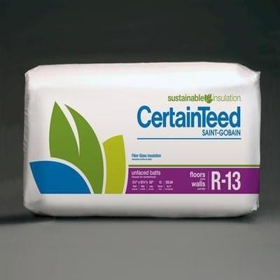 CertainTeed R13 Unfaced Batts - All Sizes CertainTeed