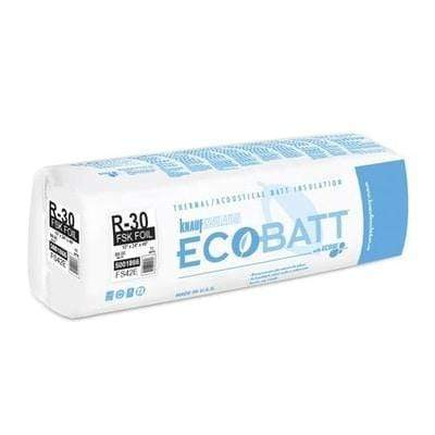Knauf Ecobatt R-30 FSK-25 Fiberglass Insulation Batts - 10 in x 24 in x 48 in (1 Bag) Batts