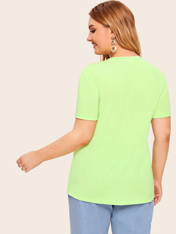 T-shirt unicolore fluo