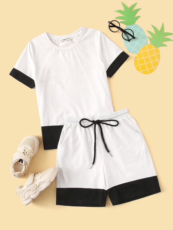 SHEIN Ensemble t-shirt & short bicolore