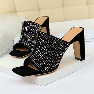 Babouche mule cristal bling strass