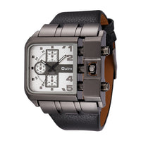 Montre Cadran Carré Large Sangle Quartz Montre De Luxe