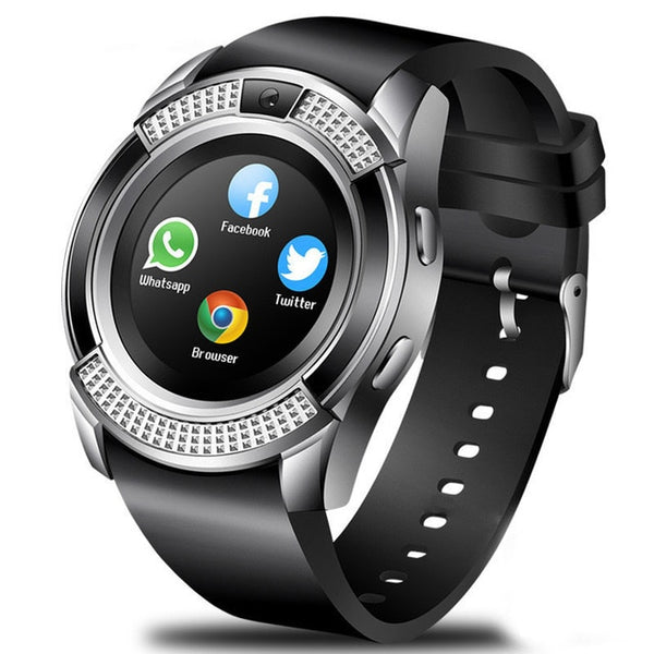 Montre Intelligente Caméra Bluetooth SIM Carte TF