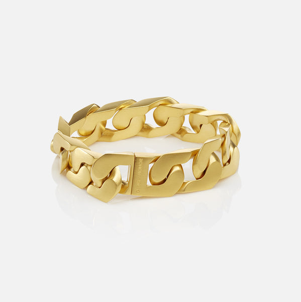 The New Classic Chain Link Bracelet Matte Gold