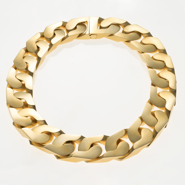 The New Classic Chain Link Necklace Matte Gold