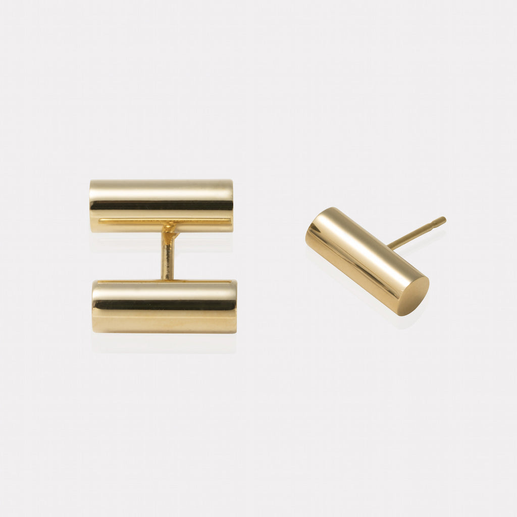 Double Bar Floating Earrings