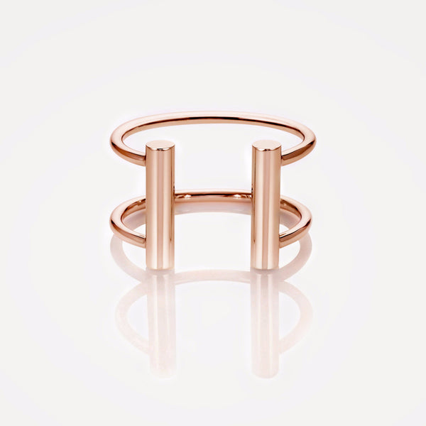 Double Rail Cuff Rose Gold