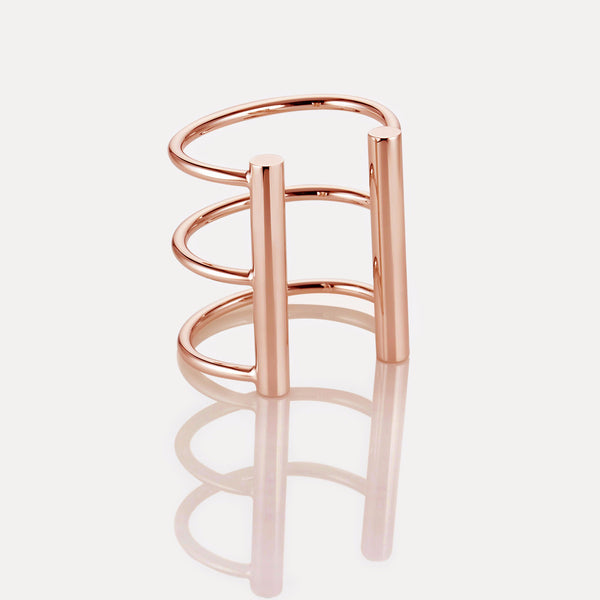 Triple Rail Cuff Rose Gold