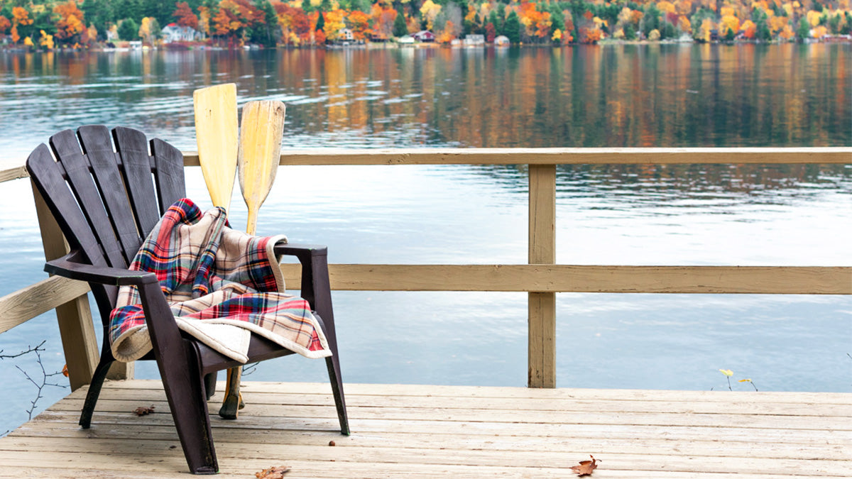 Relaxing on a classic New England Lake in Vermont.
