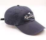 Navy Blue Rudder USA Classic Logo Baseball Hat with logo embroidered on the front. Classy Baseball Hat. Adjustable Strap. Embroidered in USA.