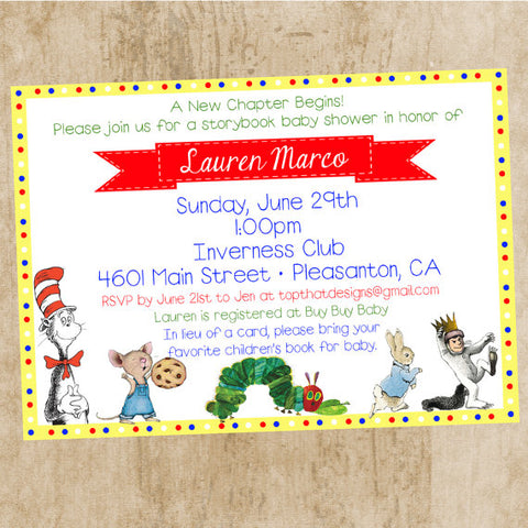 And For A Little Invite Inspiration, These Are Great For Any Storybook Baby  Shower Theme: