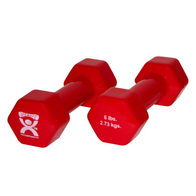 Dumbbells 6 lb - Red, pair