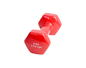 Dumbbells 6 lb - Red, each
