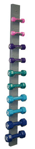 Dumbbell 10-piece set with Wall Rack - 2 each 1, 2, 3, 4, 5