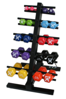 Dumbbell 20-piece set with Floor Rack - 2 each 1, 2, 3, 4, 5, 6, 7, 8, 9, 10