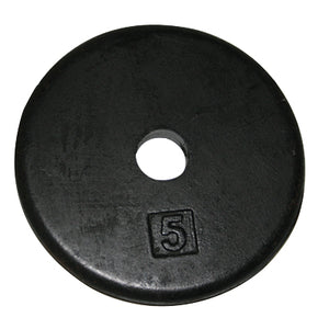 Iron disc weight plate, 5 lb