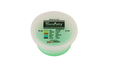 Antimicrobial exercise putty, green, 2 ounce