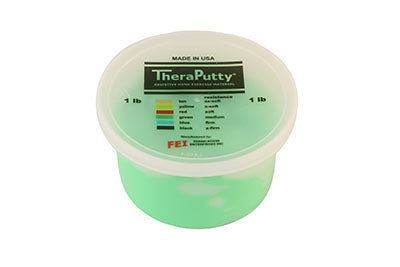 Antimicrobial exercise putty, green, 1 pound