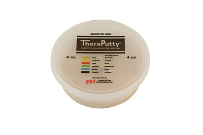 Antimicrobial exercise putty, tan, 4 ounce