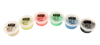 Exercise putty SET (6 pieces), 4 ounce - 1 of each