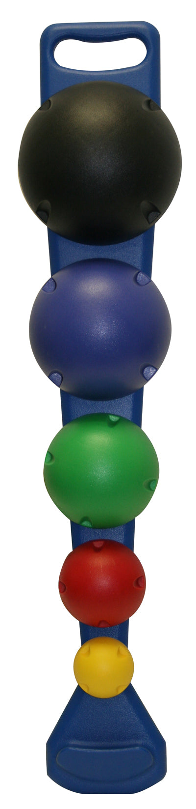 5-Ball Set with Wall Rack (1 each: yellow, red, green, blue, black)