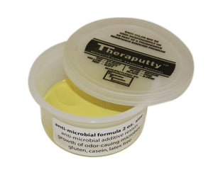 Antimicrobial exercise putty, yellow, 2 ounce