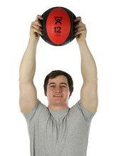 "Load image into Gallery viewer, Dual-Handle Medicine Ball - 9"" Diameter - Red - 12 lb"