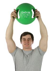 Molded Dual Handle Medicine Ball - 13.2 lb (6 kg) - Green