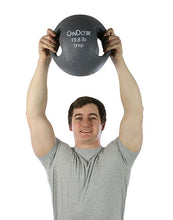 Load image into Gallery viewer, Molded Dual Handle Medicine Ball - 19.8 lb (9 kg) - Silver