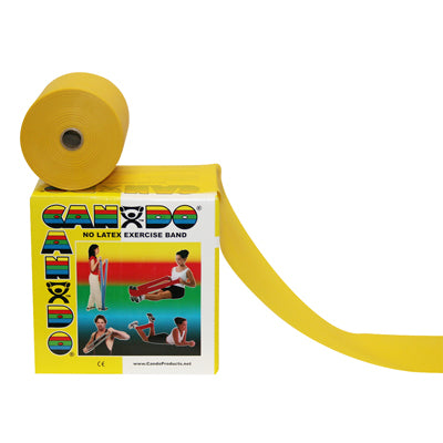 Latex-free exercise band, yellow, 50 yard dispenser