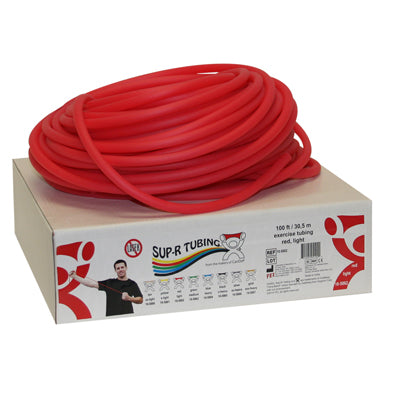 Latex Free Exercise Tubing - 100' dispenser roll - Red - light