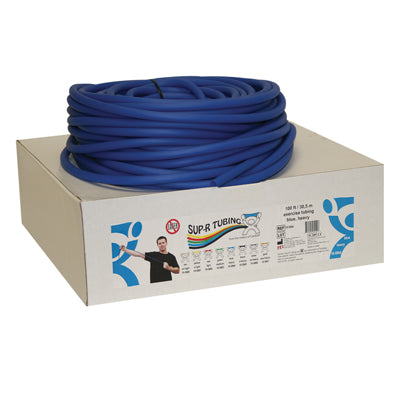 Latex Free Exercise Tubing - 100' dispenser roll - Blue - heavy