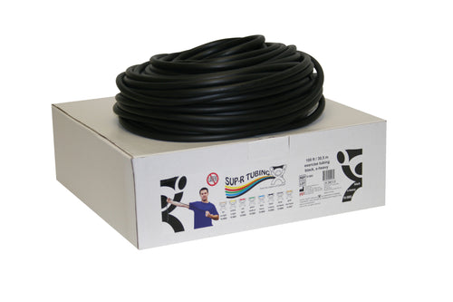 Latex Free Exercise Tubing - 100' dispenser roll - Black - x-heavy
