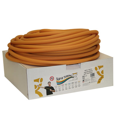 Latex Free Exercise Tubing - 100' dispenser roll - Gold - xxx-heavy