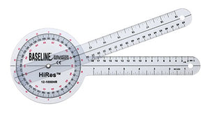 HiRes 360 degree clear plastic goniometer